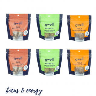 Gwell Focus & Energy Snack Pack