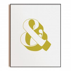 Chartreuse Ampersand - Art Print