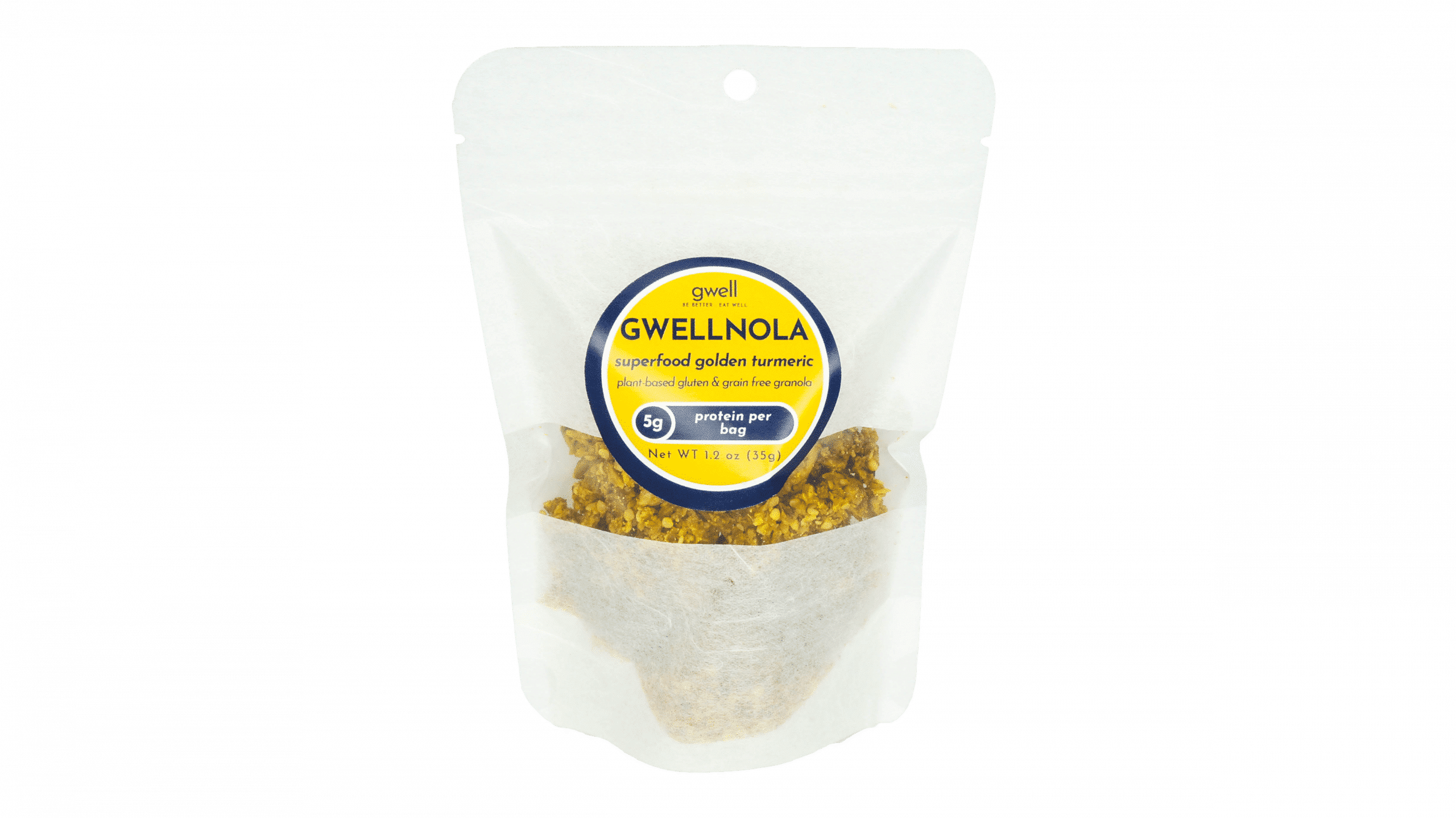 Gwellnola Gluten Free Superfood Granola - good source of protein - powered by hemp seeds and turmeric