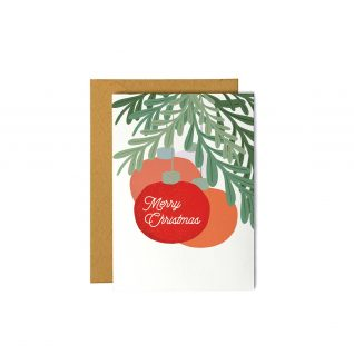 Merry Christmas with Ornaments - Greeting Card