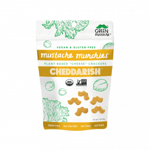 Mustache Munchies Cheddarish Crackers