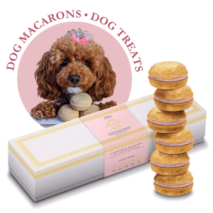 Strawberry Dog Macarons