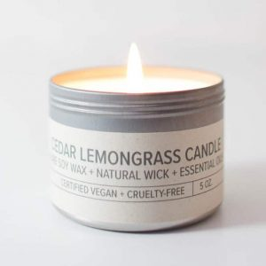Cedar Lemongrass | Soy Travel Candle