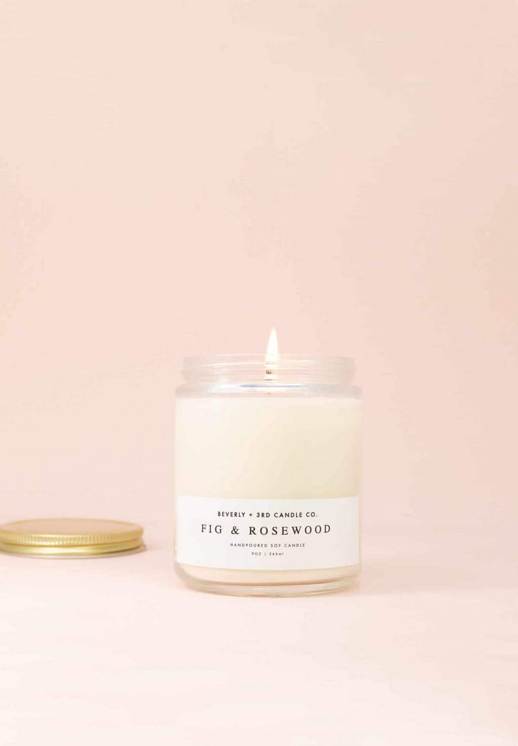 FIG & ROSEWOOD Candle, Fig Scented, Rosewood Candle, Oakmoss Candle, Soy Candle, Scented Soy Candle, Wood Wick | Wholesale, Bulk Order