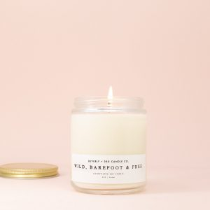 Wild, Barefoot and Free Candle