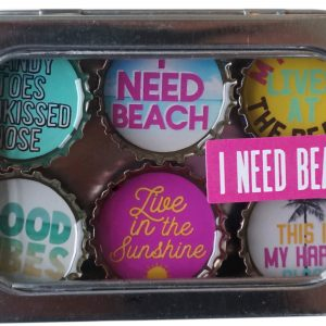 I Need Beach Magnet - Six Pack