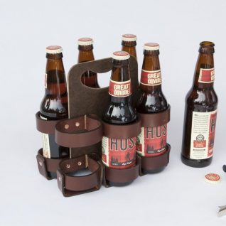 """6-Pack - Leather """"Spartan Carton"""""""