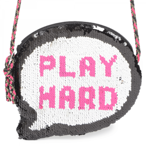 Speech Bubble Flip Sequins Bag