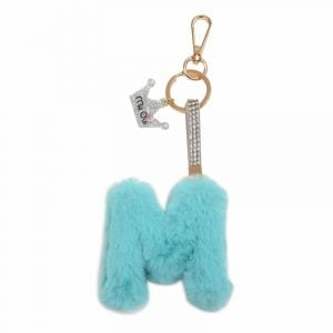 Faux Fur Initial Key Chain- M