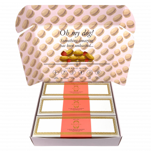 Combo Gift Pack of 3-Boxes Dog Macarons (3 Rose)