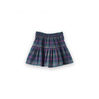 Tiered Skirt | Green Plaid